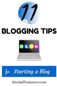 11 blogging tips for starting a blog