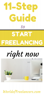 11-step guide to start freelancing right now