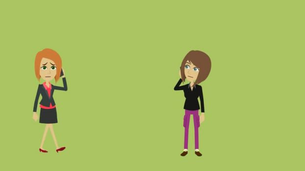 6 Important Communication Skills for Scopists - Cartoon of two women trying to hear each other