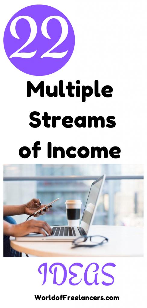 22 multiple streams of income ideas