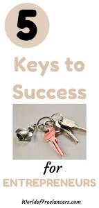 Keys to success for entrepreneurs