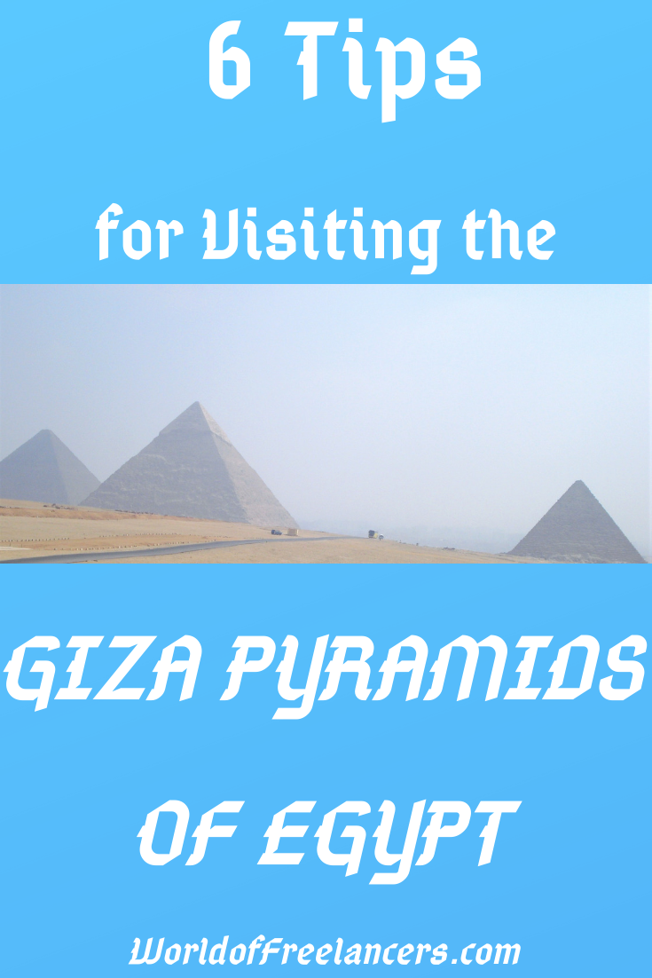 6 Tips for Visiting the Pyramids of Egypt at Giza Pinterest image