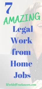 7 Amazing Legal Work from Home Jobs Pinterest image