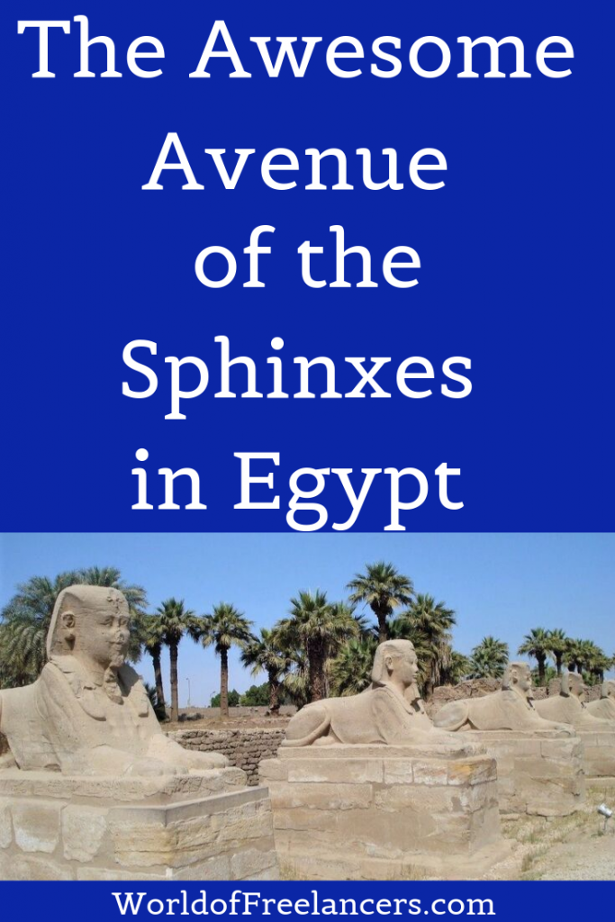 Avenue of the Sphinxes in Luxor, Egypt