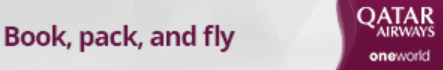 Book, Pack and Fly Qatar Airways horizontal banner