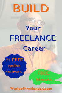 Build your freelance career with 7+ free online courses and free ebooks Pinterest image