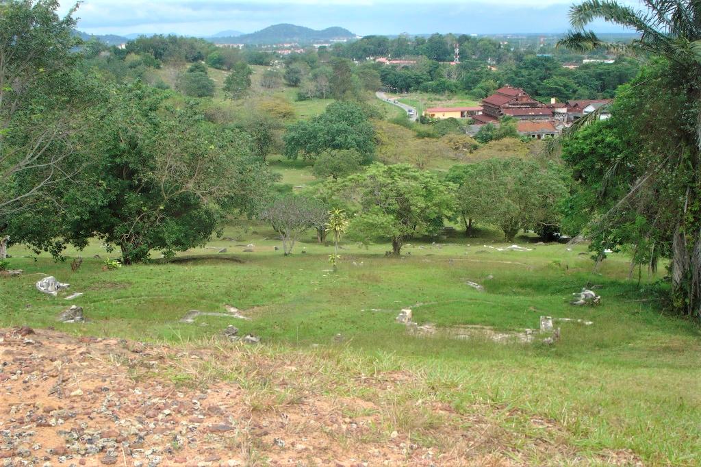 Beautiful bucolic scenery at the Bukit Cemetery in Melaka, Malaysia