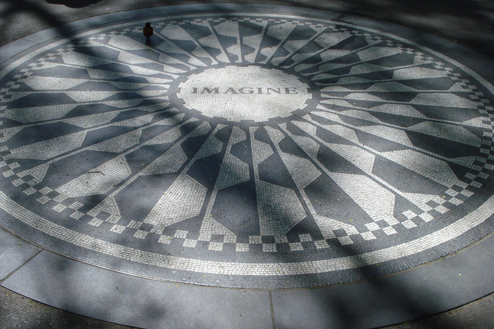Imagine mosaic in Strawberry Fields in Central Park in April 2010