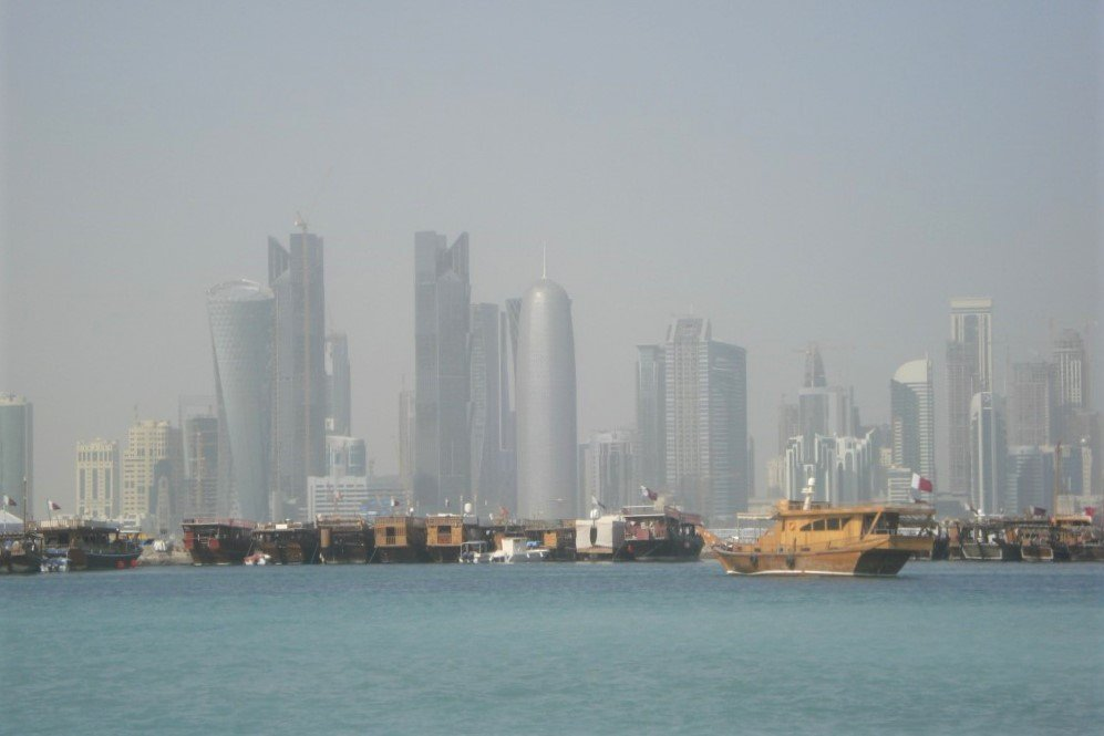 Doha, Qatar skyline in 2010 as seen from across the water