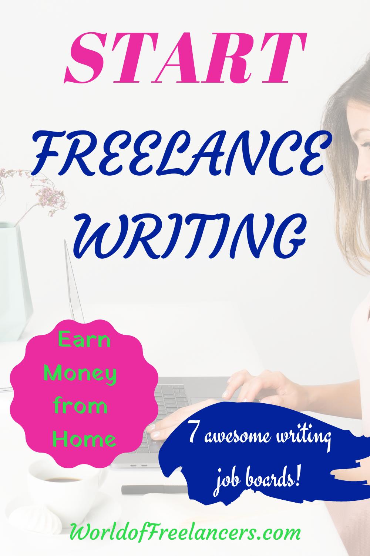 Start freelance writing Pinterest image