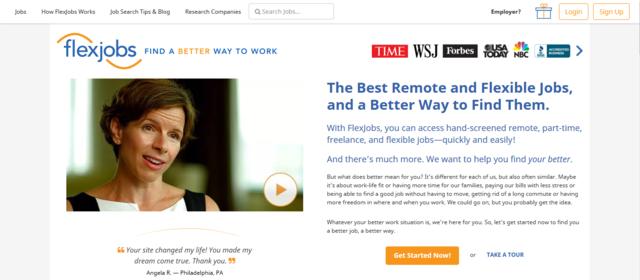 Flexjobs is one of the best job websites to find Australia jobs