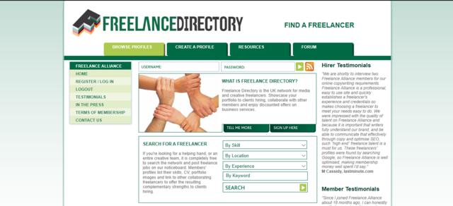 Freelance UK job search website for UK freelancers Freelance Directory
