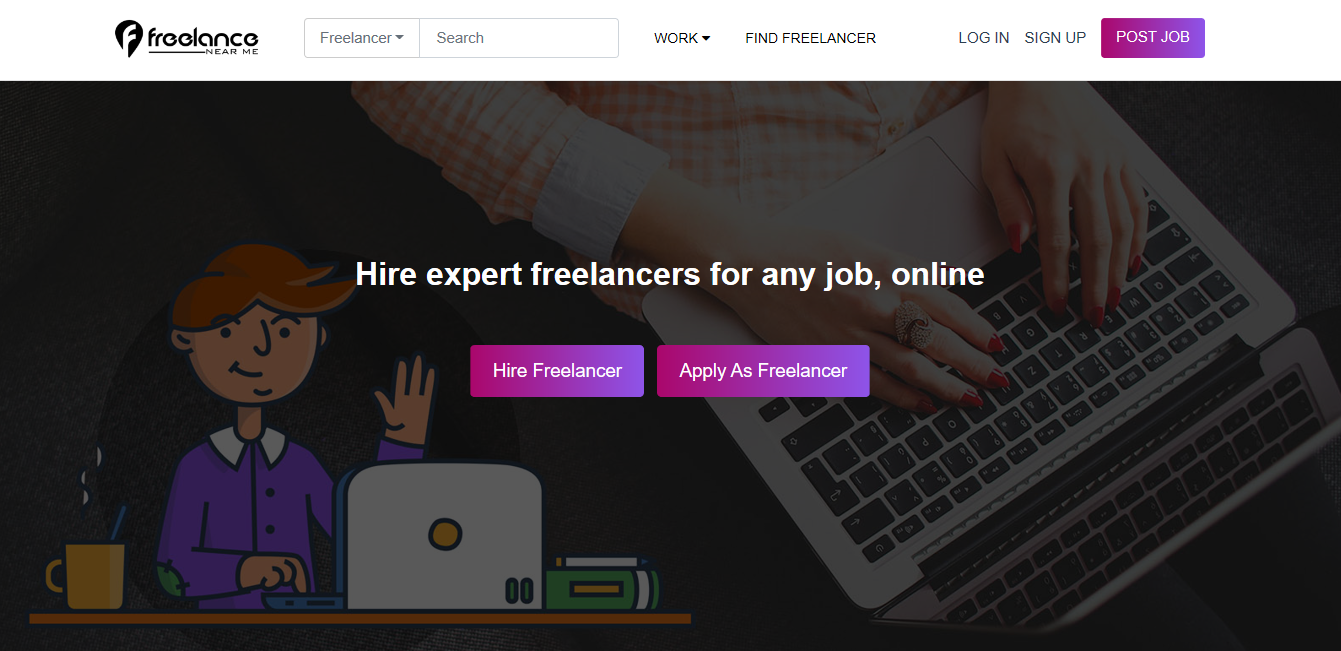 Freelance Near Me job search website for UK freelancers home page