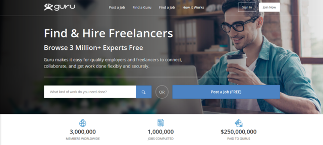 Guru is one of the best job websites to look for Australia online jobs