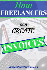 How freelancers can create invoices