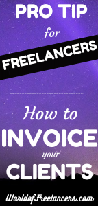 Pro tip for freelancers - how to invoice your clients