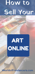 How to sell your art online Pinterest image