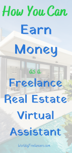 How you can earn money as a freelance real estate virtual assistant Pinterest image