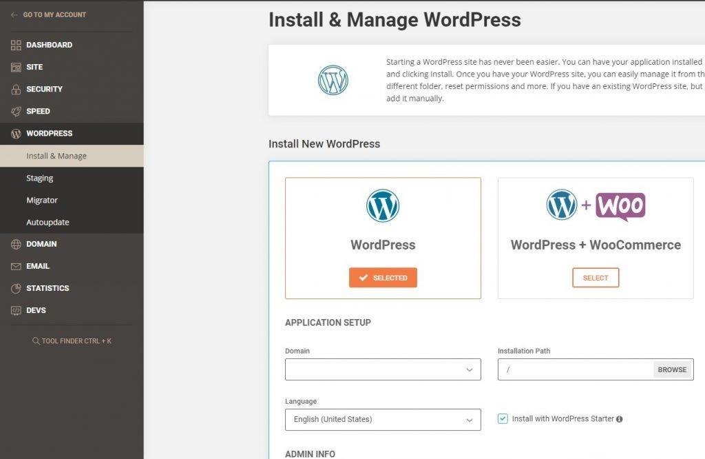 Install and manage WordPress