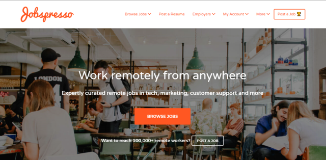 Jobspresso is one of the best job search sites in Canada for Canadian freelancers