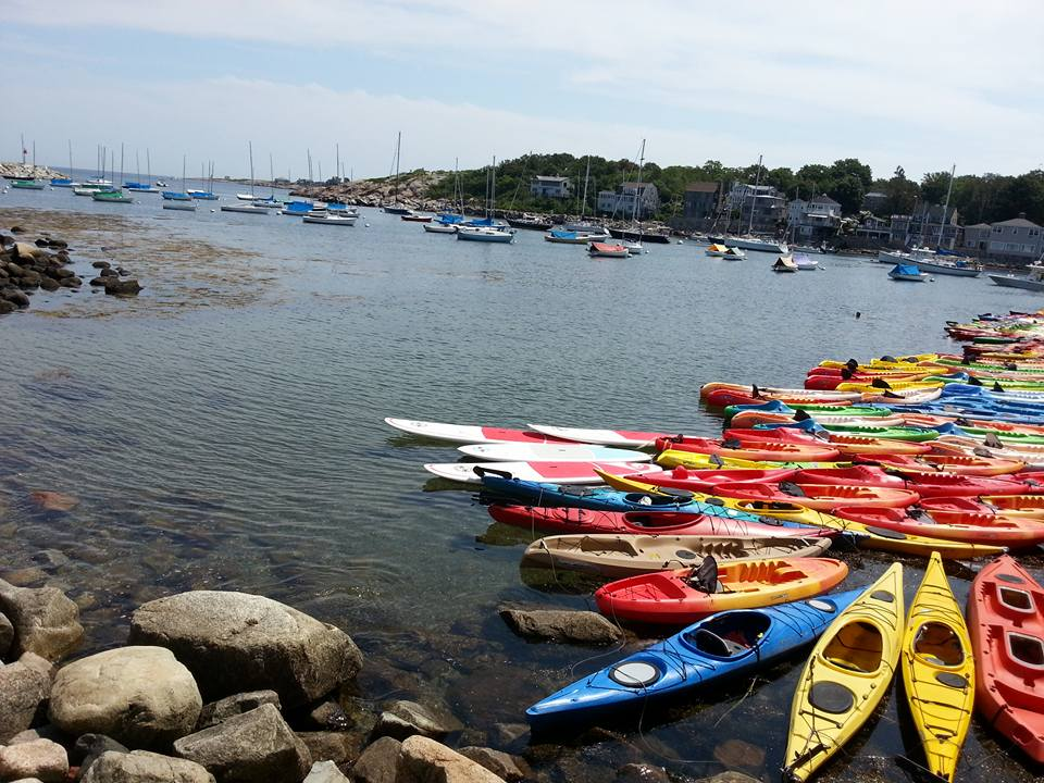 Colorful kayaks which can help you lose weight on vacation