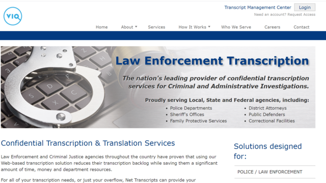 Top of home page of Net Transcripts website where you can find transcription jobs