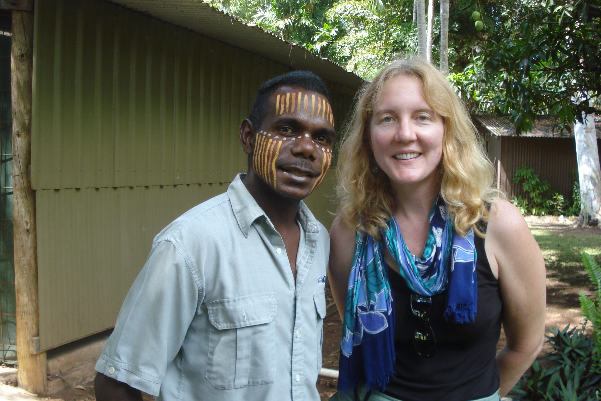 Me and Romie Kantilla, my guide on my Tiwi Islands tour