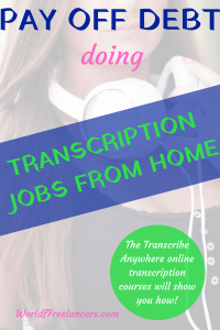 Pay off debt doing transcription jobs from home