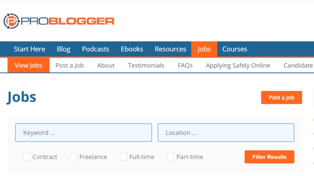 ProBlogger is a very popular website full of freelance writing jobs for beginners as well as established writers