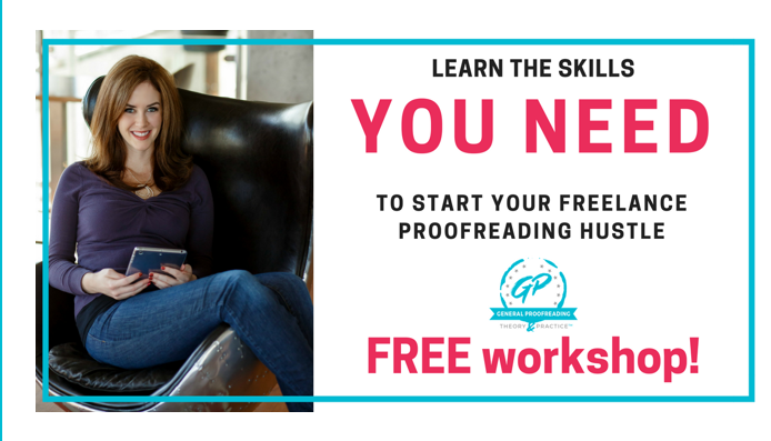 Caitlin Pyle of Proofread Anywhere sitting in a chair with a book ready to give proofreading tips in her free workshop