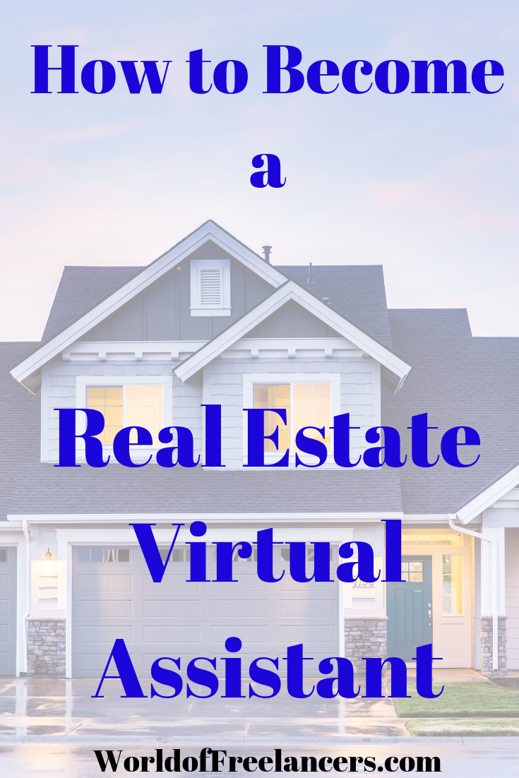 How to Be a Real Estate Virtual Assistant Pinterest image