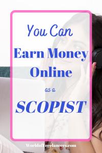 You Can Earn Money Online as a Scopist