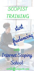 Start freelancing - get scopist training with Internet Scoping School