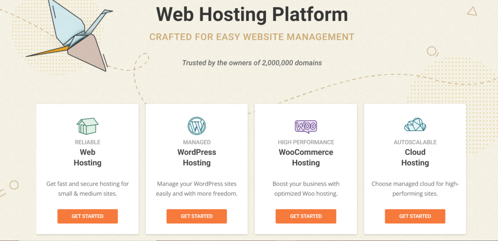 How to start your freelance blog with SiteGround homepage showing its four web hosting platforms