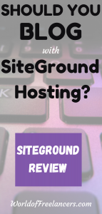 SiteGround review - Should you blog with SiteGround Hosting Pinterest image