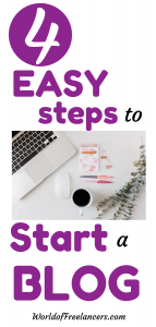 4 easy steps to start a blog