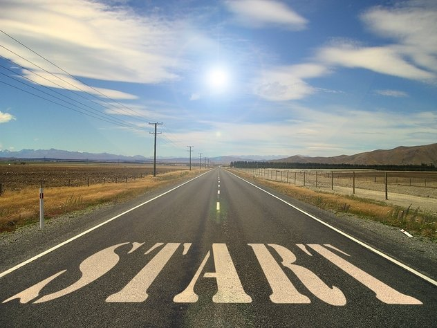 Starting line for people to try and succeed