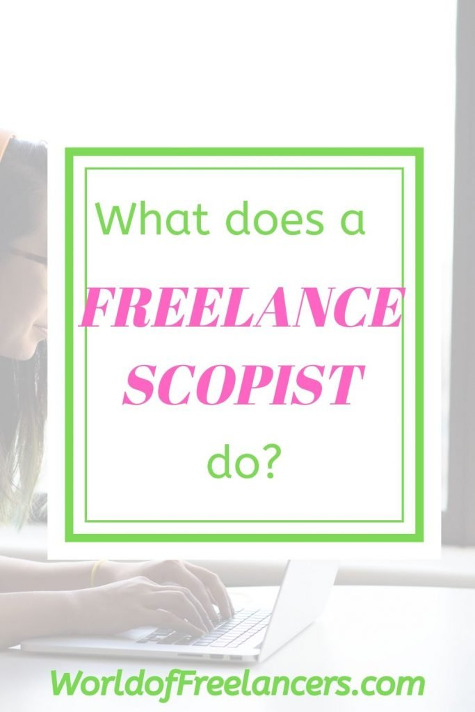 What does a freelance scopist do?