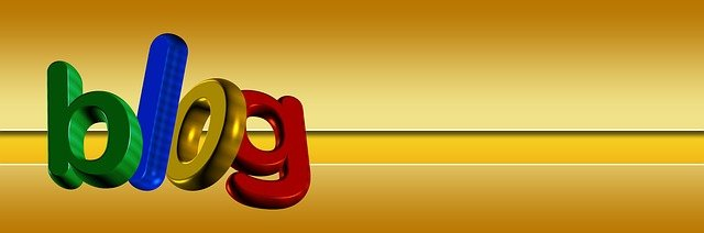 Blog tips illustrated by the word blog in colorful letters on a bright yellow background