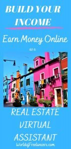 Build Your Income - earn money online as a real estate virtual assistant Pinterest image
