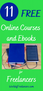 11 free online courses and ebooks for freelancers Pinterest image