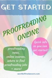 Get started proofreading online