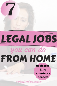 7 legal jobs for earning money from home with no degree and no experience