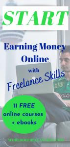 Start earning money online with freelance skills